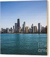 Downtown City Buildings In The Chicago Skyline Wood Print by Paul Velgos