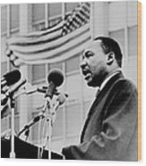 Dr Martin Luther King Jr Wood Print by Benjamin Yeager