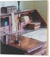 Draftsman - Cartographer's Desk Wood Print by Susan Savad