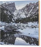 Dream Lake Reflection Wood Print by Aaron Spong
