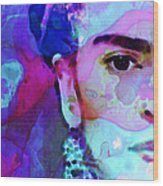 Dreaming Of Frida - Art By Sharon Cummings Wood Print by Sharon Cummings