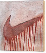 Dripping Nike Wood Print by Anwar Braxton