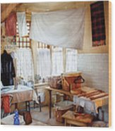 Dry Cleaner - The Laundry Room Wood Print by Mike Savad