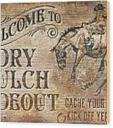 Dry Gulch Hideout Wood Print by JQ Licensing