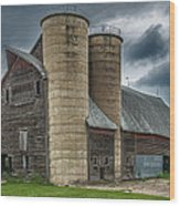 Dual Silos Wood Print by Paul Freidlund