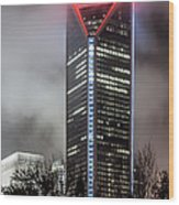 Duke Energy Center Wood Print by Brian Young