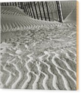 Dune Patterns II Wood Print by Steven Ainsworth