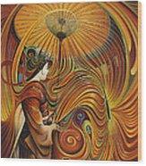 Dynamic Oriental Wood Print by Ricardo Chavez-Mendez