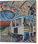 Dynamic Route 66 II Wood Print by Ricardo Chavez-Mendez