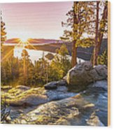 Eagle Falls Emerald Bay Lake Tahoe Sunrise First Light Wood Print by Scott McGuire