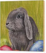 Easter Bunny Wood Print by Anastasiya Malakhova