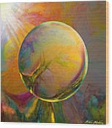 Easter Orb Wood Print by Robin Moline