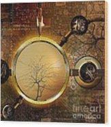 Eden Is Lost Wood Print by Franziskus Pfleghart