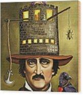 Edgar Allan Poe Wood Print by Leah Saulnier The Painting Maniac