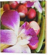 Edible Flowers Wood Print by Jacqueline Athmann