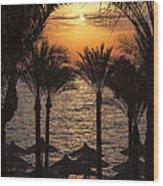 Egypt Sunrise Wood Print by Jane Rix