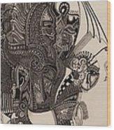 Egypt Walking Wood Print by Michael Kulick