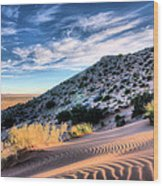 El Paso Blue Wood Print by JC Findley