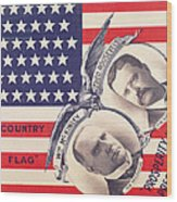 Electoral Poster For The American Presidential Election Of 1900 Wood Print by American School