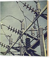 Electricity Wood Print by Edward Fielding