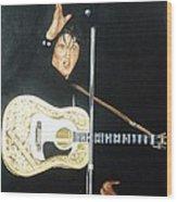 Elvis 1956 Wood Print by Bryan Bustard