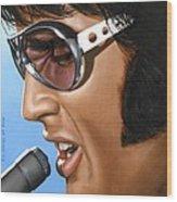 Elvis 24 1970 Wood Print by Rob De Vries