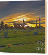 Emmett Cemetery Wood Print by Robert Bales