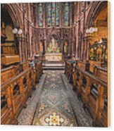 English Church 2 Wood Print by Adrian Evans