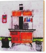 Enterprise Woodstove Wood Print by Barbara Griffin