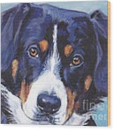 Entlebucher Mountain Dog Wood Print by Lee Ann Shepard