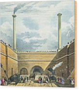 Entrance Of The Railway At Edge Hill Wood Print by Thomas Talbot Bury