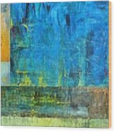Essence Of Blue Wood Print by Michelle Calkins