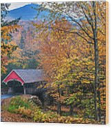 Essence Of New England - New Hampshire Autumn Classic Wood Print by Thomas Schoeller