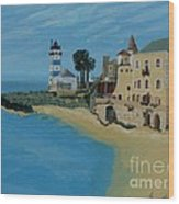 European Lighthouse Wood Print by Anthony Dunphy