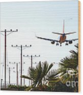 Even Airplanes Obey Traffic Signs Wood Print by Deborah Smolinske
