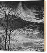 Evening Great Falls Maine Wood Print by Bob Orsillo