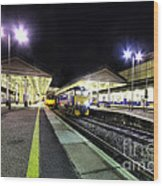 Exeter St Davids By Night  Wood Print by Rob Hawkins
