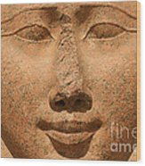Face Of Hathor Wood Print by Stephen & Donna O'Meara