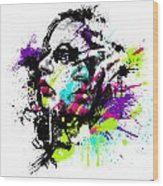 Face Paint 1 Wood Print by Jeremy Scott