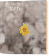 Faith Wood Print by Barbara Shallue