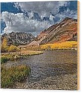 Fall At North Lake Wood Print by Cat Connor