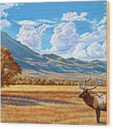 Fall In Paradise Valley Wood Print by Paul Krapf