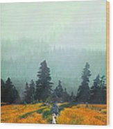 Fall In The Northwest Wood Print by Jeff Burgess