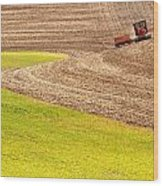 Fall Plowing Wood Print by Latah Trail Foundation