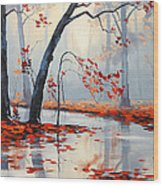 Fall River Painting Wood Print by Graham Gercken