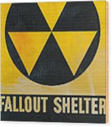 Fallout Shelter Wood Print by Olivier Le Queinec