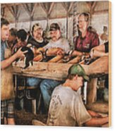 Farm - Farmer - By The Pound Wood Print by Mike Savad