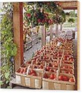 Farmstand Wood Print by Janice Drew