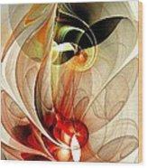 Fascinated Wood Print by Anastasiya Malakhova