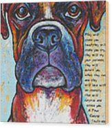 Fawn Boxer Love Wood Print by Stephanie Gerace